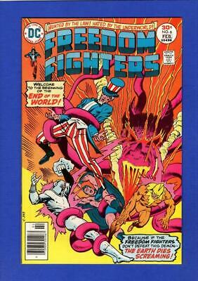 Freedom Fighters #6 Nm 9.4/9.6 High Grade Bronze Age Dc