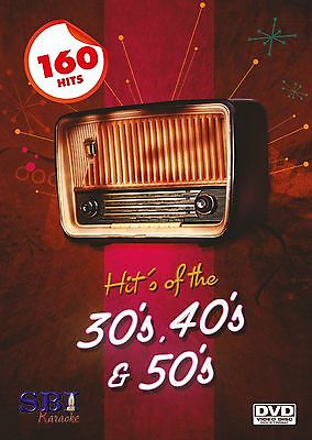 Classic 30+40+50'S Sbi Karaoke Dvd - 160 Hit Songs