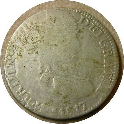 elf Mexico Spanish  8 Reales 1817 ZsAG   Zacatecas Mint