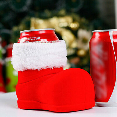 A109 Christmas Wine Cola Bottle Boots Xmas Candy Gifts Bag Ornament Decoration