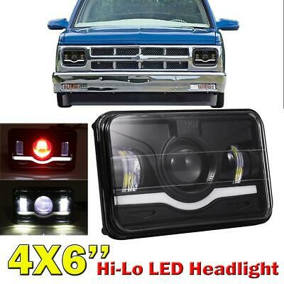 4x6'' 75W CREE LED Red/White Light Bulbs Headlights High-Low Beam For Chevrolet