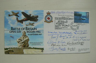 RAF JS(CC)36 FDC SIGNED BY 13 BATTLE OF BRITAIN VETS. INCL. MacKENZIE, WIDDOWS