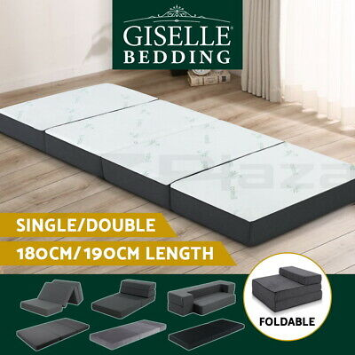 20%OFF Giselle Folding Foam Mattress Single Double Bed Portable Bed Mat Lounge