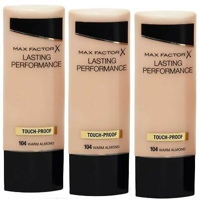 3x Max Factor Lasting Performance Foundation 104 Warm Almond 35 ml