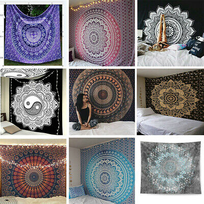 Indian Mandala Tapestry Totem Bohemian Hippie Wall Hanging Queen Bedspread Throw
