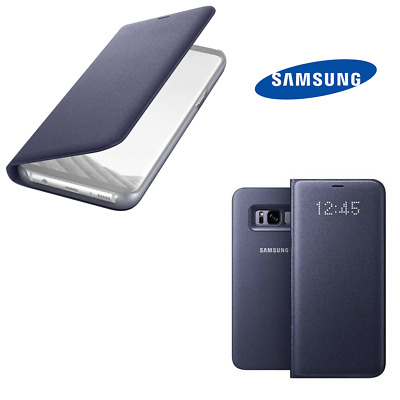 Samsung Galaxy S8 Plus LED VIEW Cover FLIP Tasche Case Hülle EF-NG955 Violett