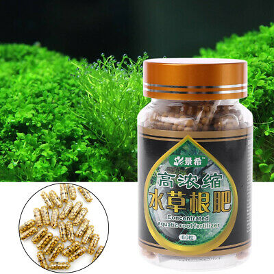 60Pcs Aquarium Tank Water Plant Grass Root Fertilizer Condensed Fish Tank Nutrit