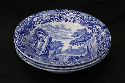 3 Copeland Spode Blue and White Italian  Large Bowls (858L)