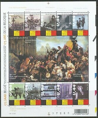 [Farde003] Belgium 2005 HISTORY OF BELGIUM good sheet very fine MNH