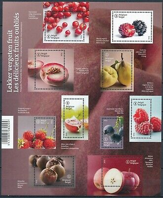 [Farde037] Belgium 2015 FRUITS Good sheet very fine MNH
