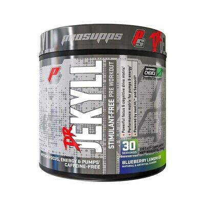 ProSupps Dr Jekyll Stimulant Free 225g Ultimate Xplode Pre Workout Energy Focus