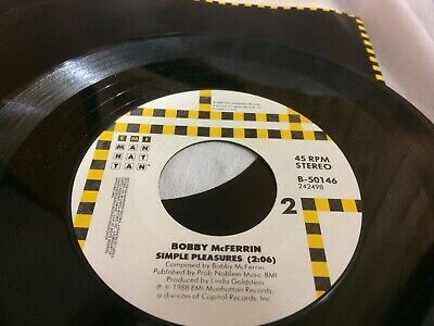 BOBBY MCFERRIN DON'T WORRY BE HAPPY ~ SIMPLE PLEASURES  V 45 7 Ci
