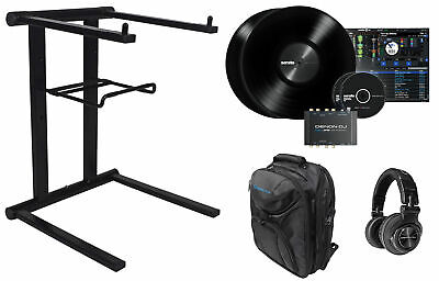 DENON DS1 Serato DJ USB Vinyl Audio Interface+Headphones+Laptop Stand+Backpack