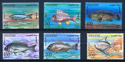 [H11957] Kuwait 1997 : Fishes - Good Set of Very Fine MNH Stamps - $18
