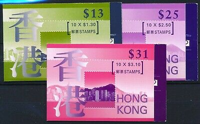 [H12175] Hong Kong 1997 : Good Set of 3 Very Fine MNH Complete Booklets