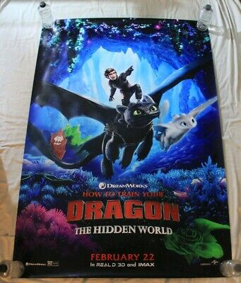 How To Train Your Dragon 3 The Hidden  World Fly BUS SHELTER MOVIE POSTER 4'x6'