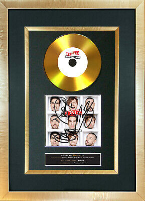 #177 BUSTED halfway there GOLD DISC Cd Album Signed Autograph Mounted Print