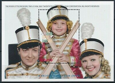 "[H16513] Liberia 2001 Cinema - ""LITLE RITCH GIRL"" Good sheet very fine MNH"