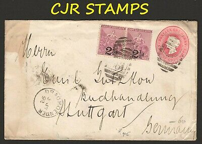 Cape Of Good Hope 1892  Stationery Cover   -   Draghoender To Germany