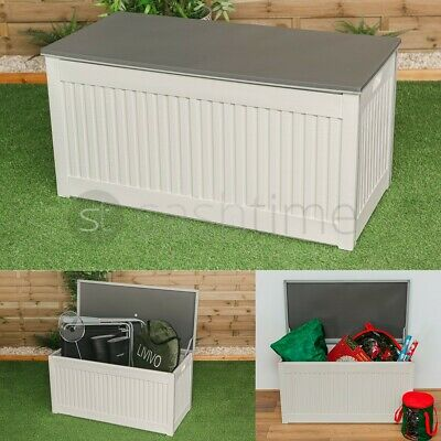 327L Outdoor Garden Storage Plastic Box Chest Tools Cushions Toys Lockable