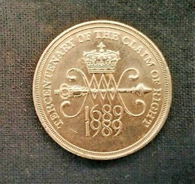 Tercentenary 1989 £2 Two Pound Claim of Rights Coin - Great Condition! Very Rare