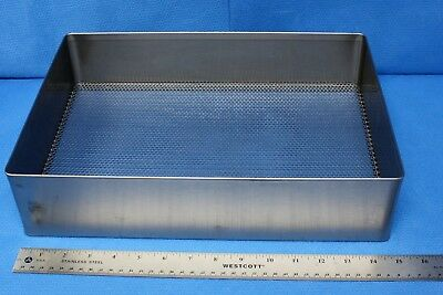 """Marshall Stainless Steel Perforated Sterilization Tray w/Handles 15"""" x 10.5"""""""