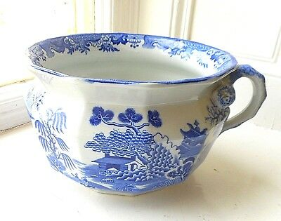 Vintage Mason's Ironstone Chamber Pot - Turner's Blue Willow Pattern - Excellent