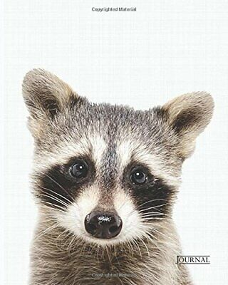 Raccoon Journal 8x10 inch 102 Page Line Notebook/Diary by arra Book The Fast
