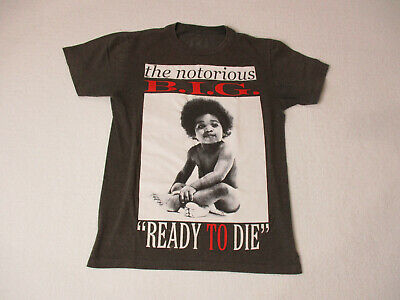 Notorious BIG Ready To Die Concert Shirt Adult Small Gray Biggie Smalls Mens *