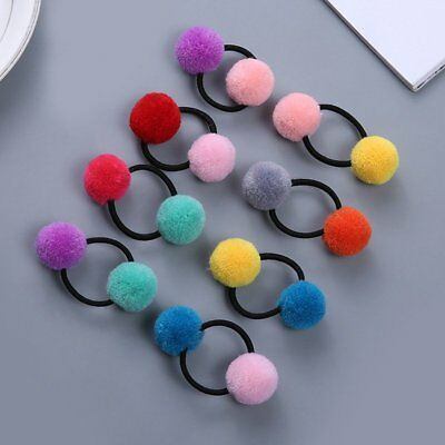 Lovely Christmas PomPom Ponytail Holder Children Hair Accessories Party Gifts