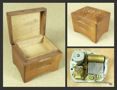 Vintage SWISS MUSICAL BOX with CUENDET MOVEMENT - 1 Air, 18 Notes - Edelweiss