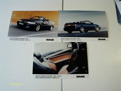 "3 Photos Presse ""saab 9-3 Viggen Convertible"" 1999"