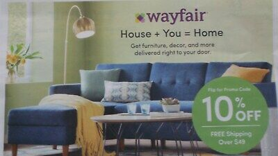 New WAYFAIR 10% COUPON OFF 1ST ORDER EXP. 4/30/2019 FAST DELIVERY