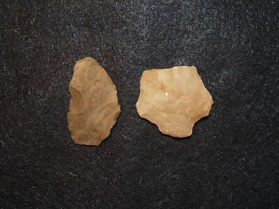Native American Indian Artifact Tools Arrowhead Blade Knife Chisel Set of 2 #22