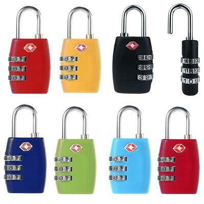 TSA Resettable 3 Digit Combination Lock Travel Luggage Suitcase Lock Padlock SA