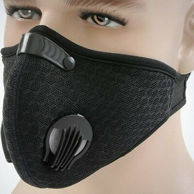 Air Purifying Face Mask Cover Anti Dust  Multi Layer Haze Mouth Muffle Filter US