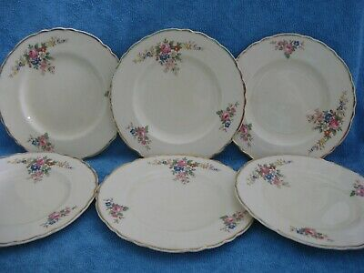 6 vintage ROYAL STAFFORDSHIRE England SIDE PLATES
