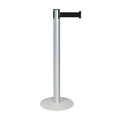 Poteau de guidage alu avec sangle noir retractable 2.5m