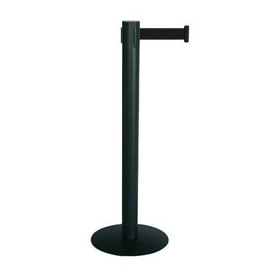 Poteau de guidage noir avec sangle rectractable 2.5m