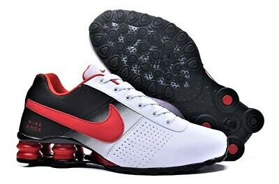competitive price 7b450 f2446 Men s Nike Shox Deliver Red Black and White