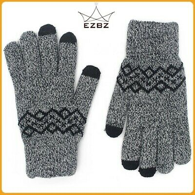 2 pair winter Mens  Gloves warm  multi color.Windproof  Thick Knit Thermal Gift