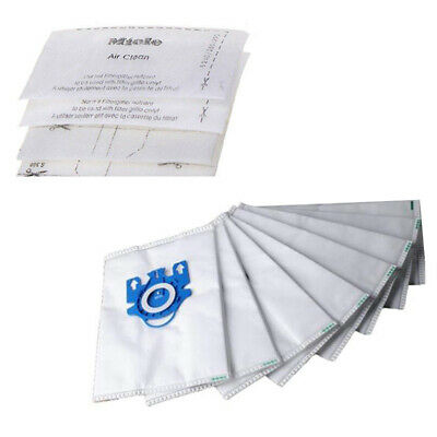 For Miele GN Hyclean Dust Bags Filters 10 pcs Replacement Part 3D Efficiency