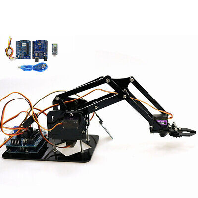 NEW 4 DOF Mechanical Arm Robot Claw with Servos for Robotics Arduino DIY KIT