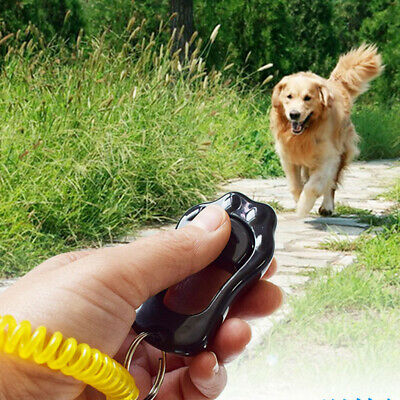 Dog Hand Whistle Clicker Puppy Pet Training Obedience Tool with Wrist Strap