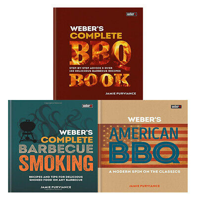 Jamie Purviance Webers Complete Barbecue Smoking, BBQ Book 3 Books Collection