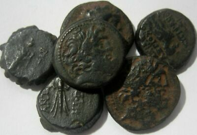 SELEUKID KINGDOM :GREAT LOT of SIX BRONZE COINS ( with RARITIES) 3rd-1st Cent BC