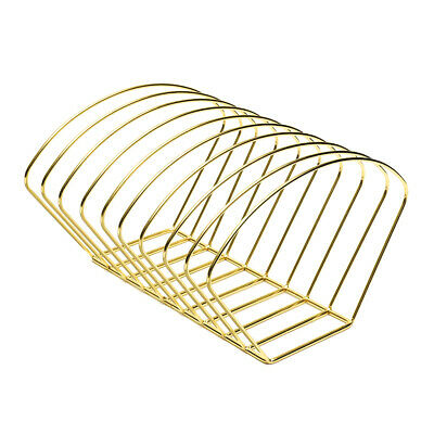 Metal Desktop Book Holder Modern Minimalist Bookshelf for Home Office, Gold
