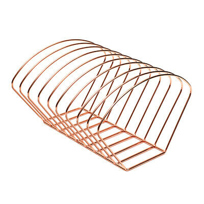 Metal Desktop Book Holder Modern Minimalist Bookshelf for Home, Rose Gold