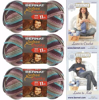 "Set Of 6/"" /""Softee Chunky Ombre Yarn-Shadow"