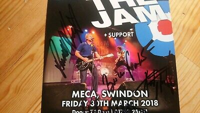 From The Jam RARE Fully Hand Signed Autographed Flyer Bruce Foxton Hastings Etc